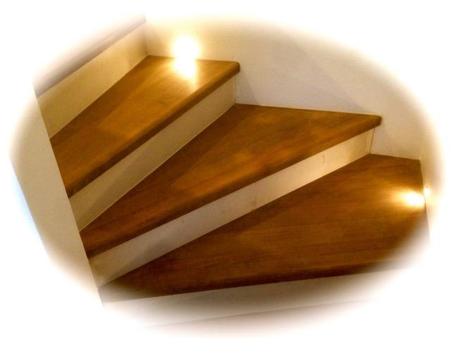 Evolution d'un chantier de création de marches d'escalier